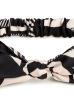 Satin hairband - Black/Patterned - Ladies | H&M CA 2