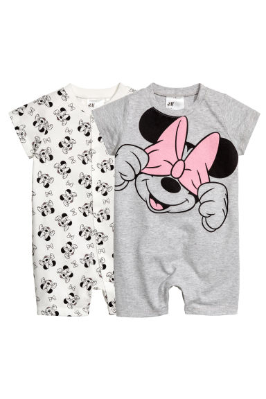2件入連身睡衣 - Grey/Minnie Mouse -  | H&M 1