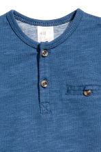 T-shirt with buttons - Blue marl - Kids | H&M CN 2