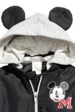 Bomber jacket with jersey hood - Black/Mickey Mouse - Kids | H&M CA 2