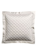 Quilted cushion cover - Silver-coloured/Dark grey - Home All | H&M CN 1