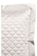 Quilted cushion cover - Silver-coloured/Dark grey - Home All | H&M CN 3