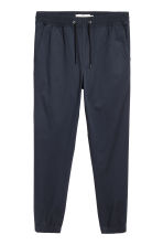 Brushed cotton twill joggers - Dark blue - Men | H&M 2