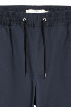 Brushed cotton twill joggers - Dark blue - Men | H&M 3