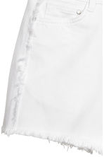 Frayed-hem denim shorts - White denim -  | H&M 4