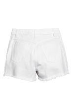 Frayed-hem denim shorts - White denim -  | H&M 3