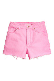 Frayed-hem denim shorts