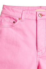 Frayed-hem denim shorts - Pink denim - Ladies | H&M 4