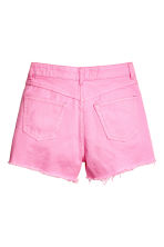 Frayed-hem denim shorts - Pink denim - Ladies | H&M 3
