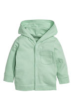 Jersey hooded cardigan - Mint green - Kids | H&M CN 1