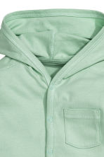 Jersey hooded cardigan - Mint green - Kids | H&M CN 2