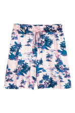 Patterned shorts - Light pink/Palms - Ladies | H&M 2