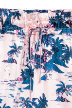 印花短褲 - Light pink/Palms - Ladies | H&M 3