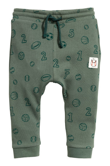 Sweatpants - Green/Patterned -  | H&M 1