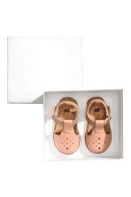 Leather sandals - Apricot -  | H&M 2