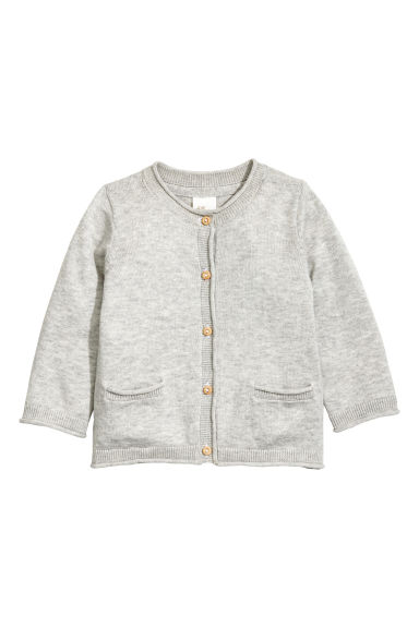 精織開襟衫 - Light grey marl -  | H&M 1