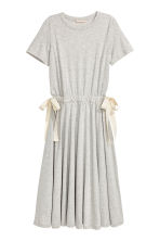 Jersey dress with ties - Grey marl - Ladies | H&M 2