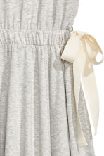 Jersey dress with ties - Grey marl - Ladies | H&M 3