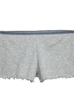 Pyjama top and shorts - Grey marl - Ladies | H&M CN 3