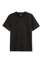 Cotton T-shirt Regular fit - Black - Men | H&M 2