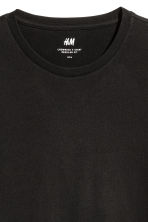 Cotton T-shirt Regular fit - Black - Men | H&M GB 3