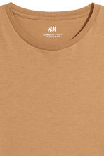 Cotton T-shirt Regular fit - Camel - Men | H&M CN 3
