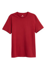 Cotton T-shirt Regular fit - Dark red - Men | H&M 2