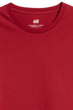Cotton T-shirt Regular fit - Dark red - Men | H&M 3