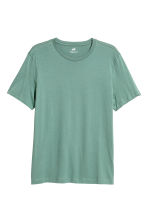 Katoenen T-shirt - Regular fit - Groen - HEREN | H&M NL 2