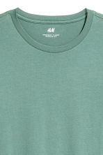 Cotton T-shirt Regular fit - Green - Men | H&M 3