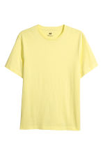 T-shirt en coton Regular fit - Jaune clair - HOMME | H&M FR 2