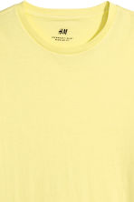 T-shirt en coton Regular fit - Jaune clair - HOMME | H&M FR 3