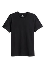 Round-necked T-shirt Slim fit - Black - Men | H&M 2