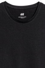 Round-necked T-shirt Slim fit - Black - Men | H&M CN 3