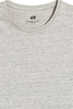 Round-necked T-shirt Slim fit - Grey beige marl - Men | H&M 3