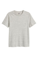 Round-necked T-shirt Slim fit - Grey beige marl - Men | H&M 2