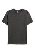 Round-necked T-shirt Slim fit - Dark grey - Men | H&M 2
