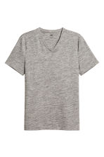 V-neck T-shirt Slim fit - Grey marl - Men | H&M CA 2