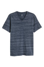 V-neck T-shirt Slim fit - Dark blue marl - Men | H&M CN 2