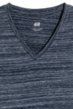V-neck T-shirt Slim fit - Dark blue marl - Men | H&M CN 3
