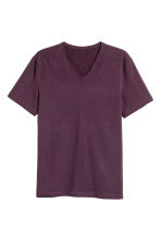 V-neck T-shirt Slim fit - Dark plum - Men | H&M 2