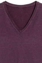 V-neck T-shirt Slim fit - Dark plum - Men | H&M 3
