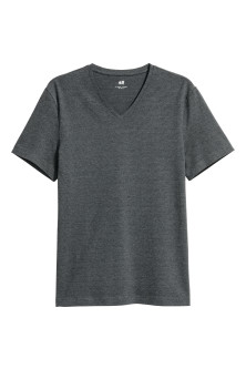 T-shirt met V-hals - Slim fit