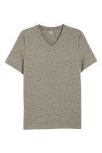V-neck T-shirt Slim fit - Khaki green - Men | H&M 2
