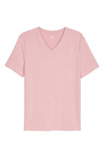 T-shirt scollo a V Slim fit - Rosa - UOMO | H&M IT 2