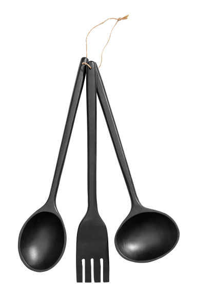 3-piece kitchen utensil set - Black - Home All | H&M IE 1