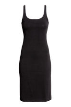 Sleeveless jersey dress - Black - Ladies | H&M GB 2