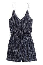 V-neck playsuit - Dark blue/Patterned - Ladies | H&M 2