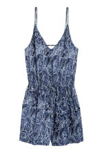 V-neck playsuit - Blue/Paisley - Ladies | H&M 2