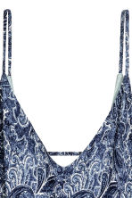 V-neck playsuit - Blue/Paisley - Ladies | H&M 3